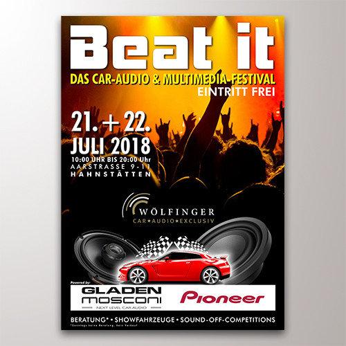 Beat it-Festival Veranstaltungsplakat