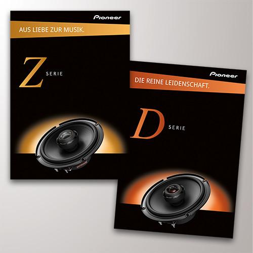 Pioneer-Prospekte Z-Serie und D-Serie
